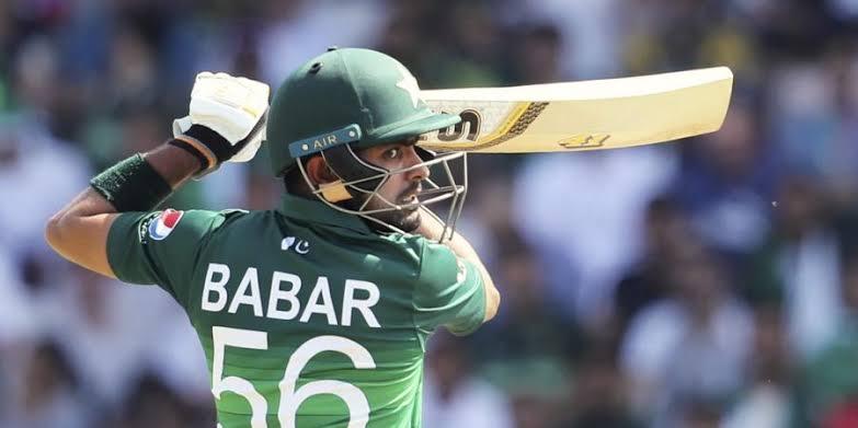 Babar Azam wears the number 56 shirt.